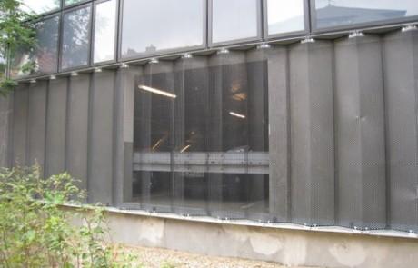 Facadebeklædning i perforerede metal, falset i rammer, perforerede metal, beklædning, facader, perforerede stål