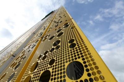 Facade, perforerede plader, Facadebeklædning i metal, stål facader, facadebeklædning, facader, metal, metal facade,