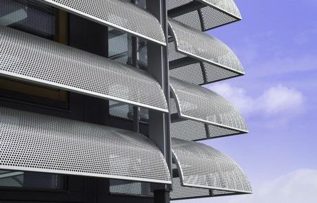 solafskærmning, solafskæring i stål, stål solafskærmning, afskæmning