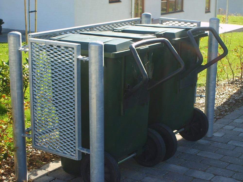 Strækmetal affaldafskærmning