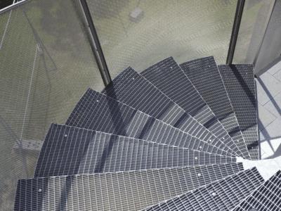 Gitterriste, værn, gelænder, stål riste, stål gitter, trappeværn