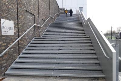 Gitterristetrin, gitterriste, stål ristetrin, stål trappe, trappetrin, ståltrin